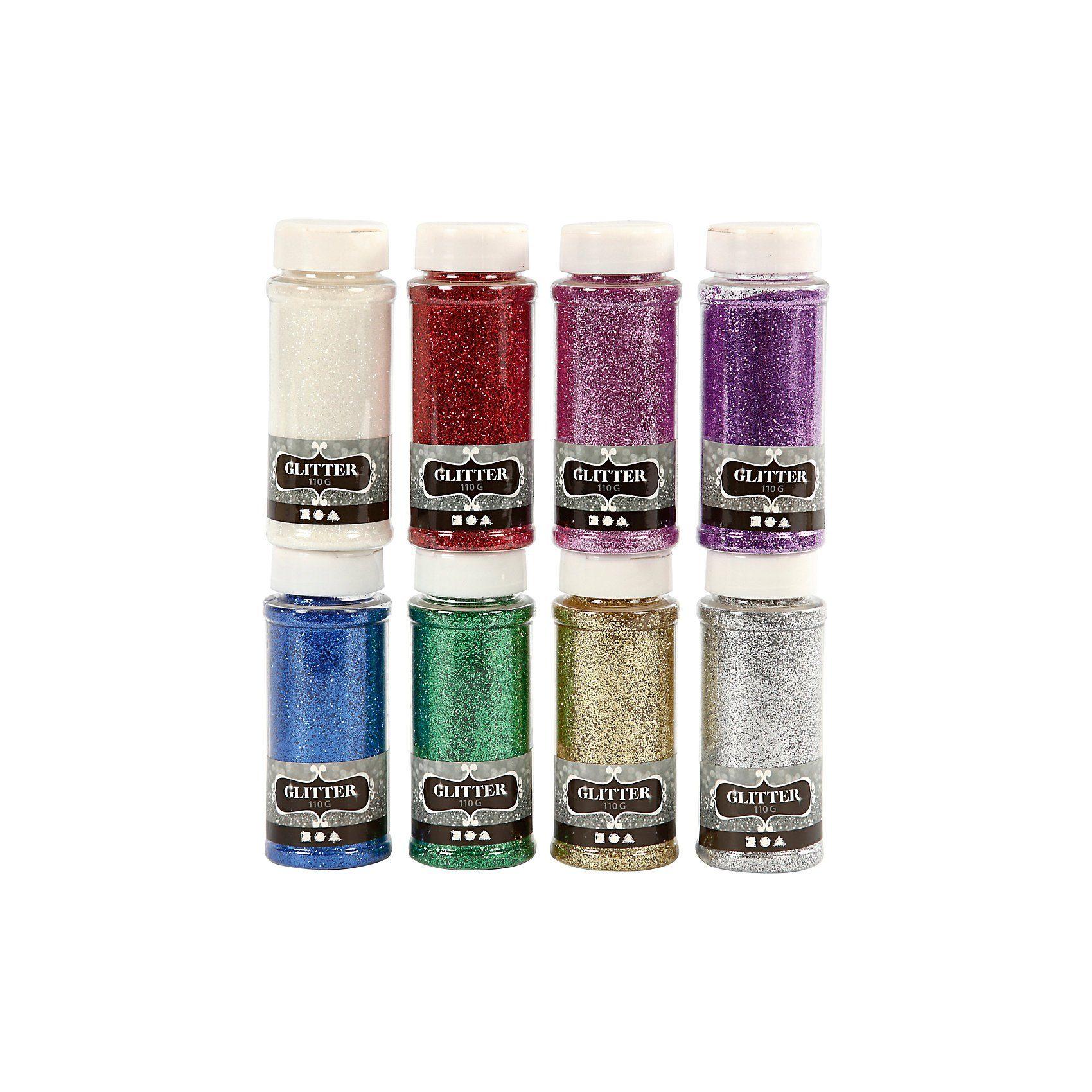 Deko-Glitter, 8x110 g, sortierte Farben