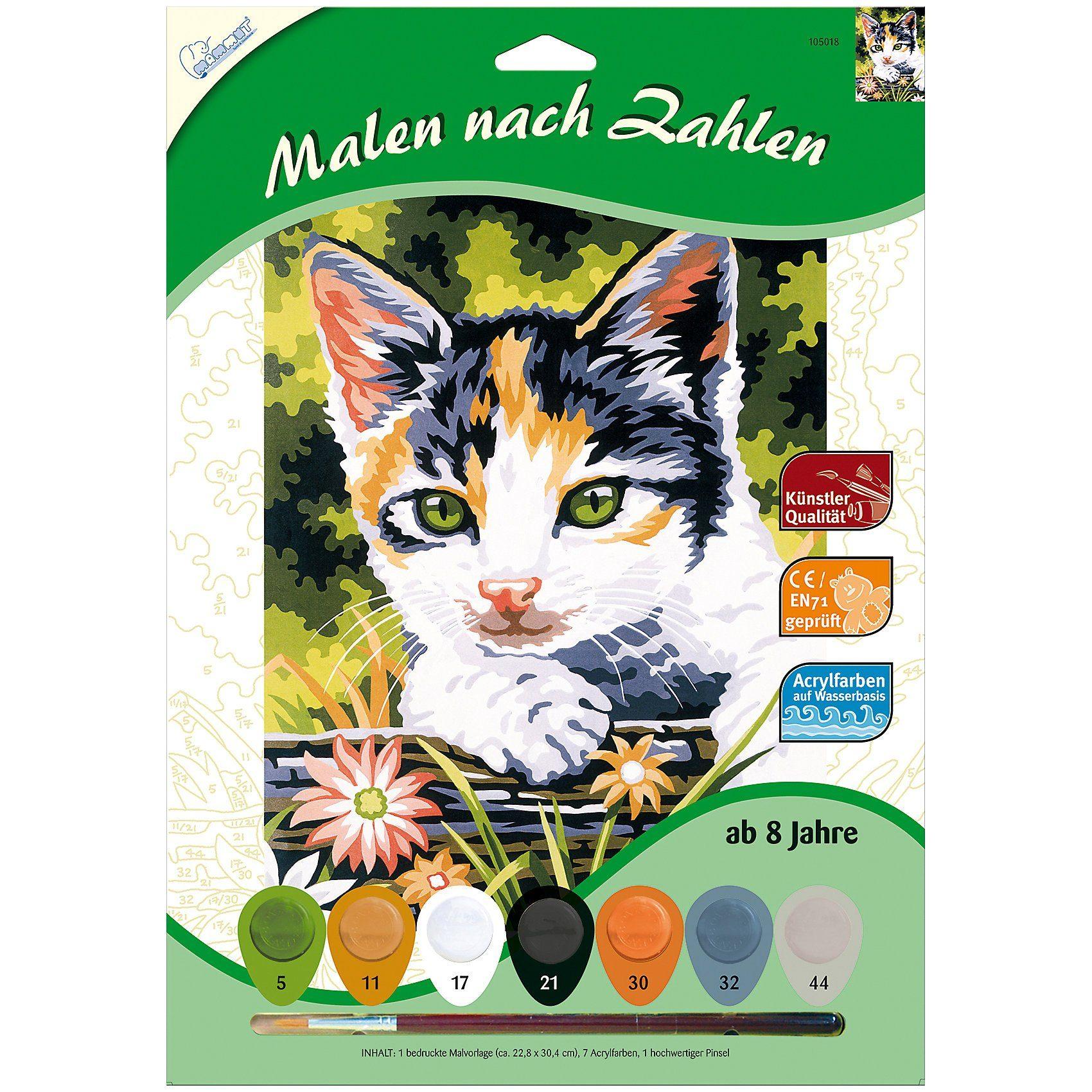 MAMMUT Spiel und Geschenk Malen nach Zahlen - Kätzchen