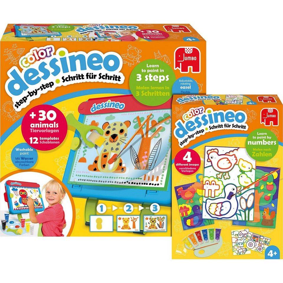 Jumbo Bundle Dessineo Farbe Staffelei + Malen nach Zahlen Bauernho online kaufen