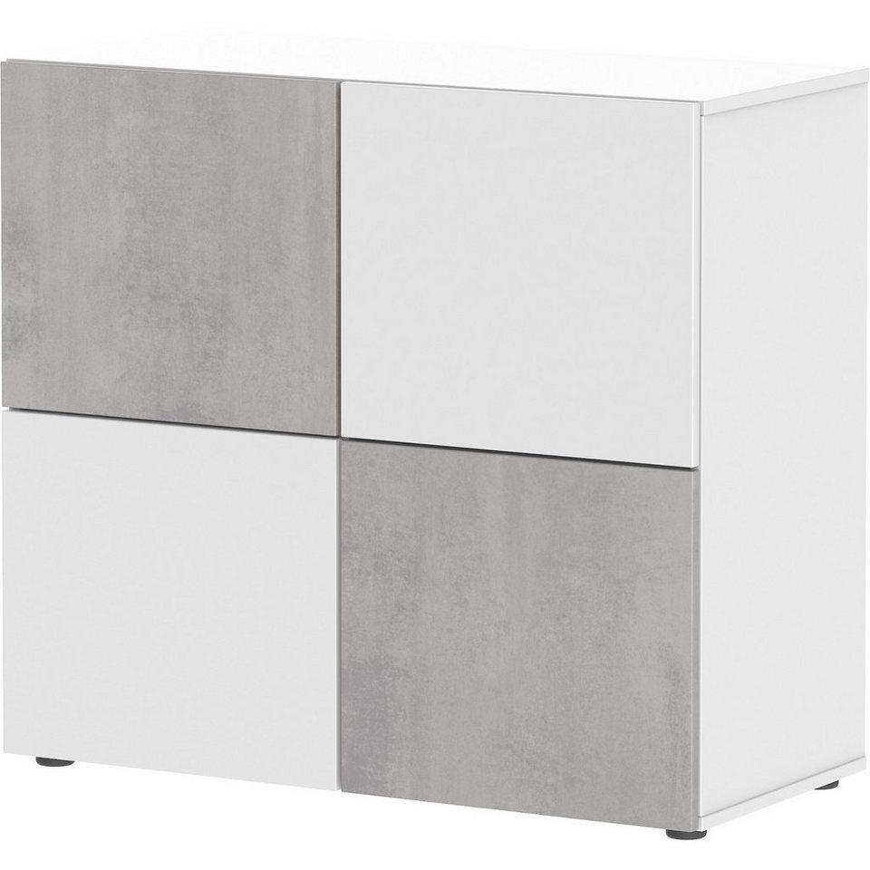 wellem bel kommode concrete wei wei und beton otto. Black Bedroom Furniture Sets. Home Design Ideas