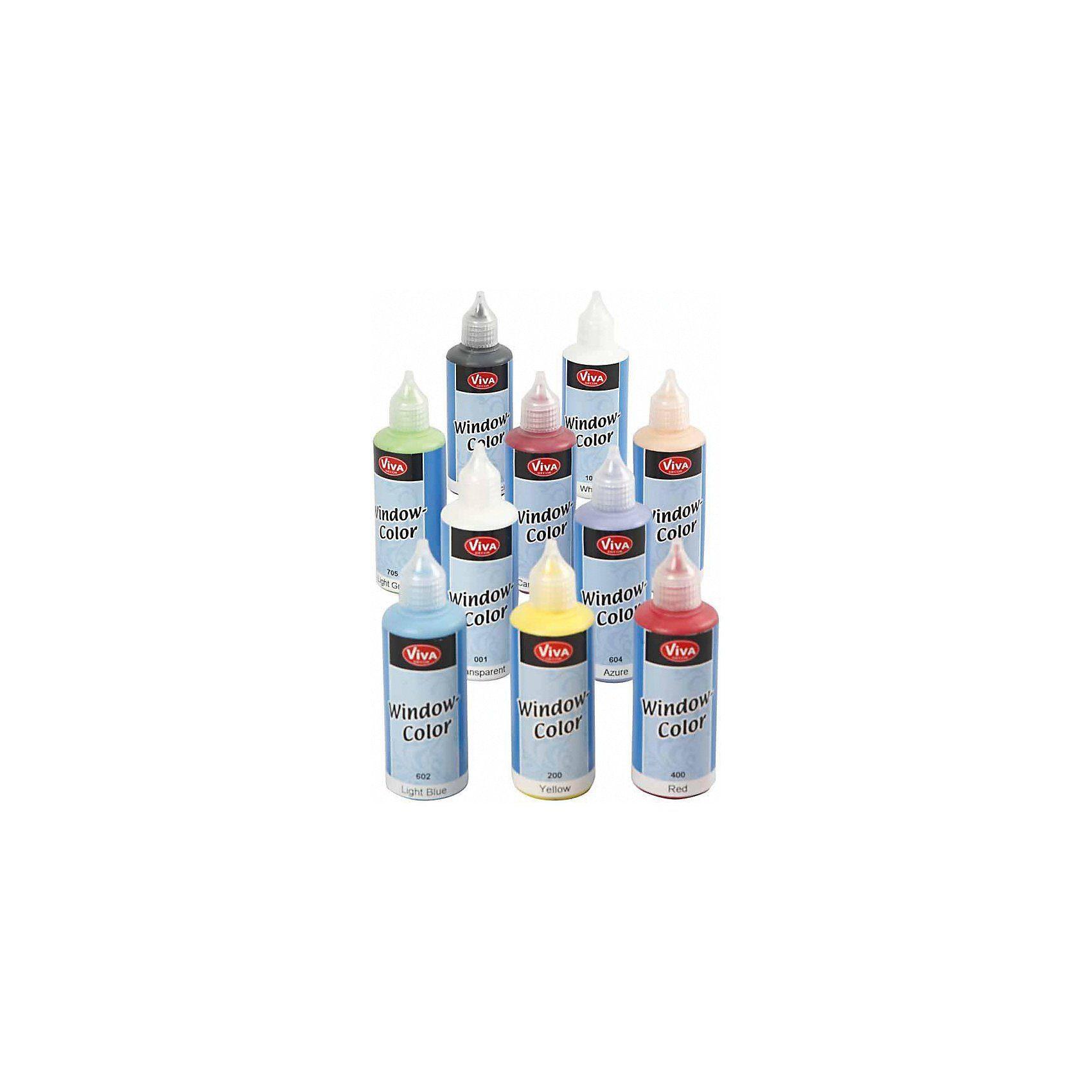 Window Color - Sortiment, 10x80 ml, Sortierte Farben