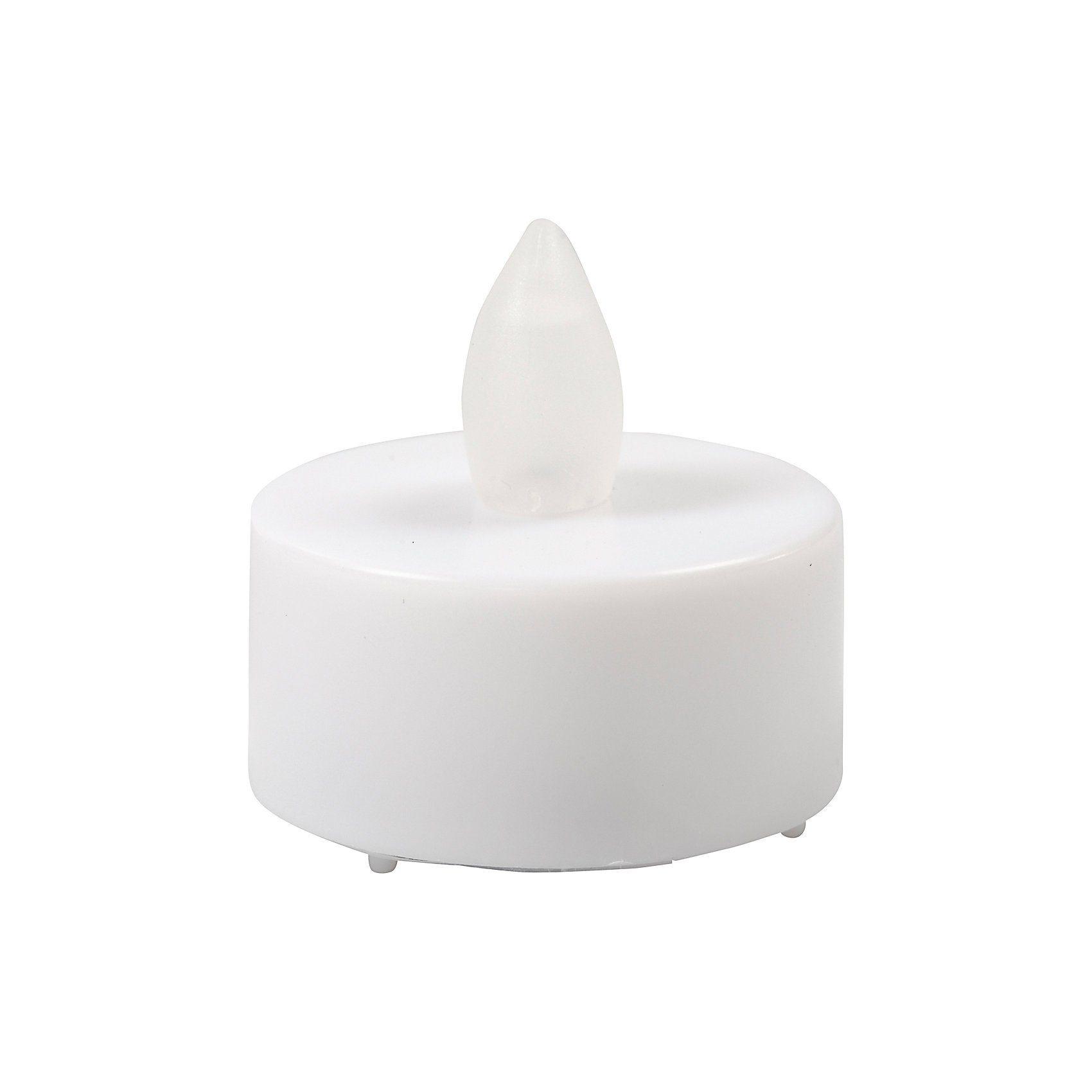 LED Teelicht-Kerze, H 35 mm, D: 38 mm, 24 Stck., Weiß