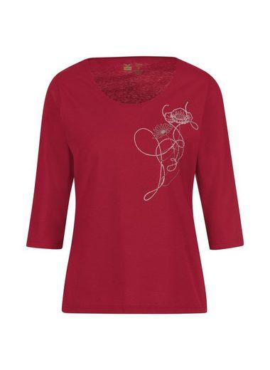 Trigema 3/4 Arm Shirt mit Glitzerblume