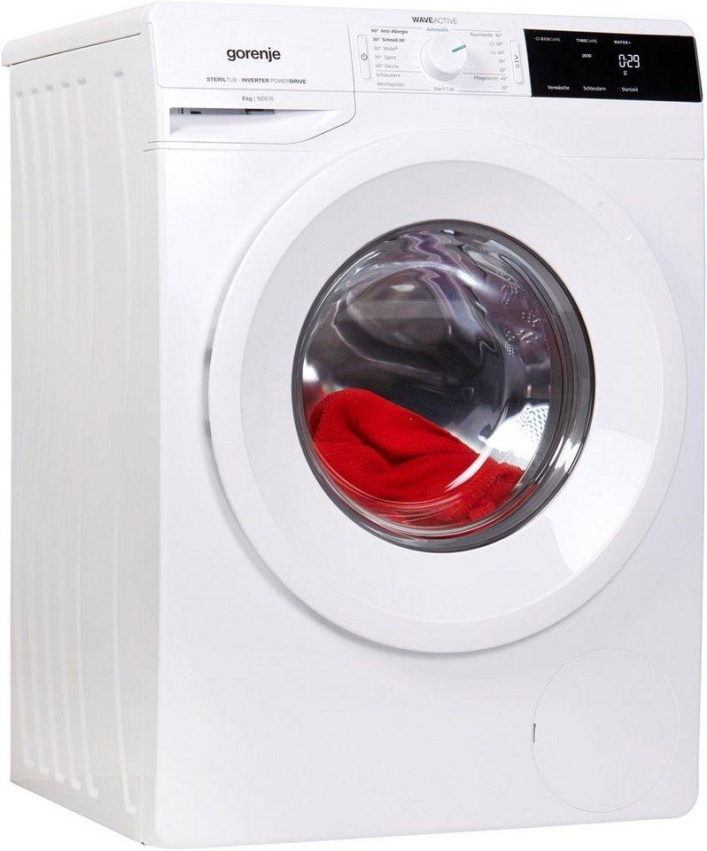 gorenje waschmaschine wei 863 p 8 kg 1600 u min otto. Black Bedroom Furniture Sets. Home Design Ideas