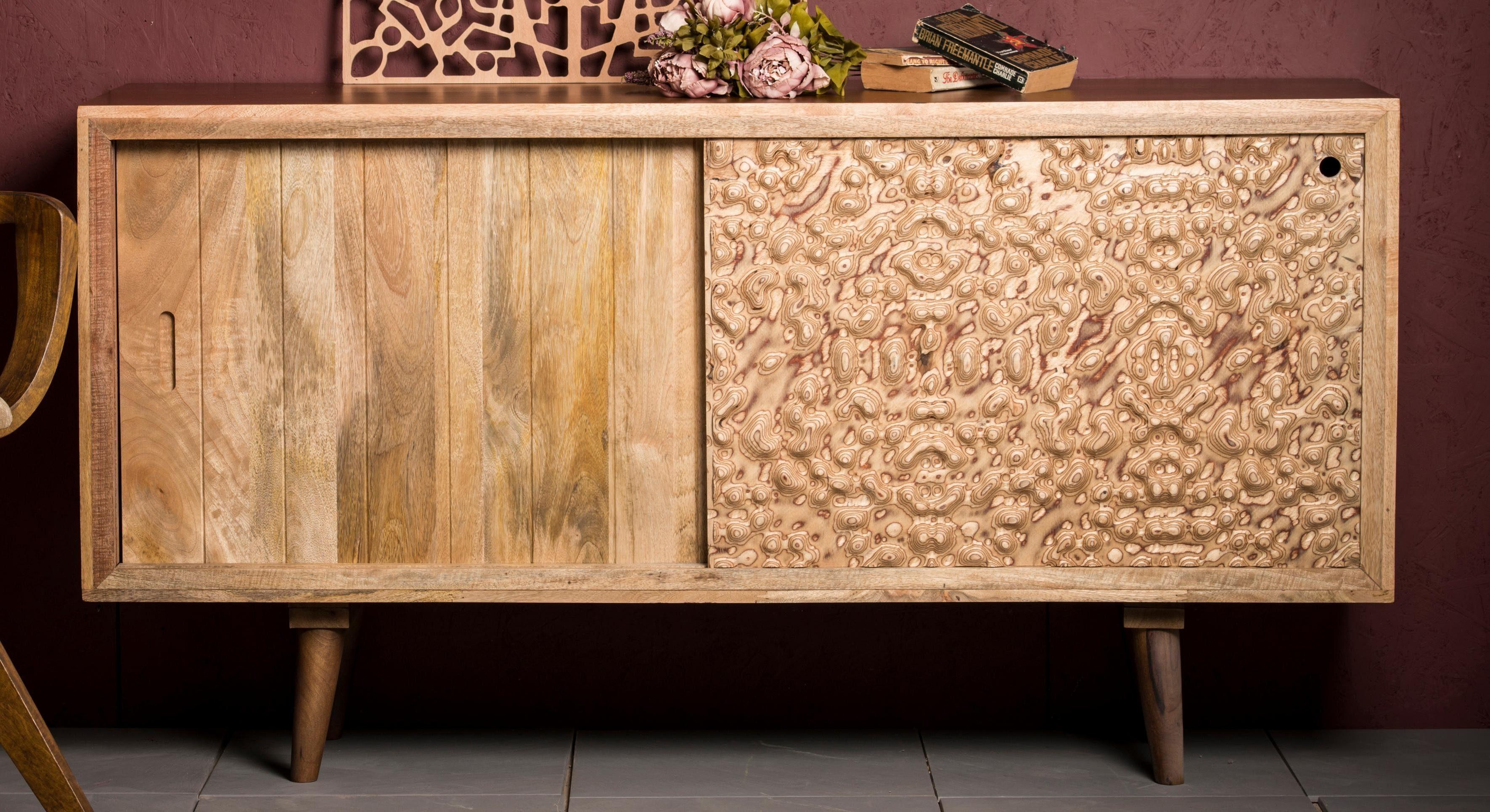 Home Affaire Sideboard »Tyrion« aus massivem Mangoholz, Breite 160 cm