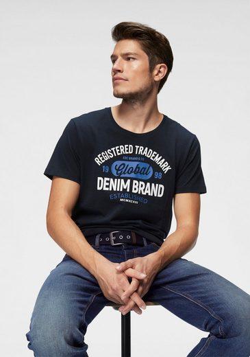 edc by Esprit Rundhalsshirt mit Markenprint