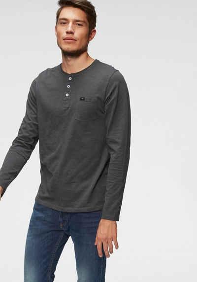 9d132a29528273 Langarmshirt mit Knopfleiste für Herren online kaufen