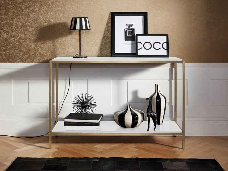 Leonique Konsolentisch »Cherlen«, mit zwei Ablageflächen und goldfarbenem Metallgestell