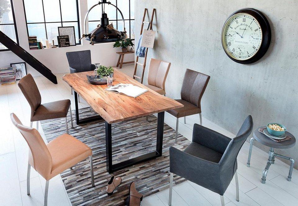 sit esstisch tops tables mit tischplatte aus akazie mit baumkante wie gewachsen online kaufen. Black Bedroom Furniture Sets. Home Design Ideas