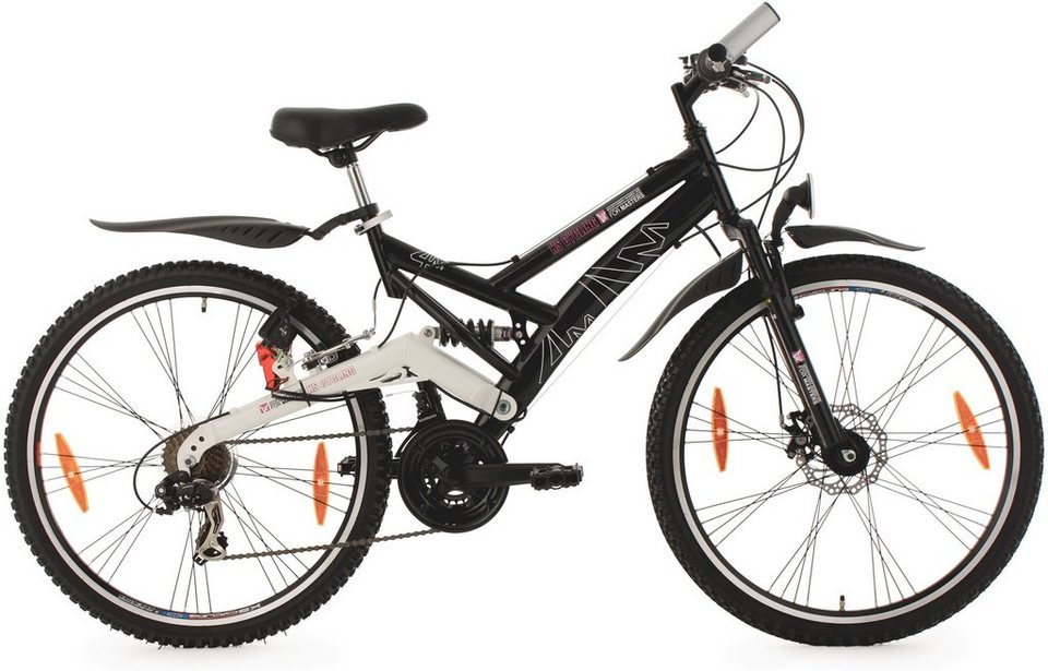 fully mountainbike 26 zoll schwarz 21 gang. Black Bedroom Furniture Sets. Home Design Ideas