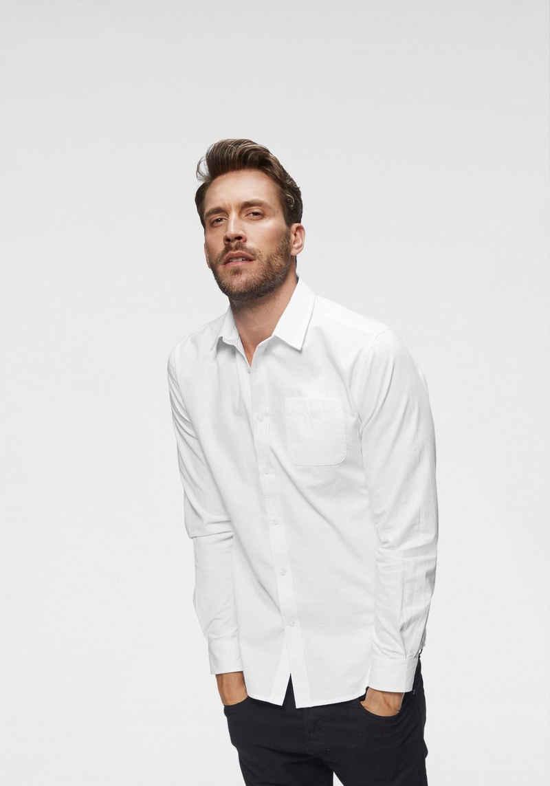 John Devin Langarmhemd feste Twill Qualität