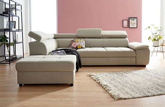 exxpo - sofa fashion Ecksofa, wahlweise mit Bettfunktion