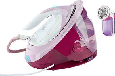 Philips Dampfbügelstation GC8950/30 PerfectCare Expert Plus, 1800 ml Wassertank, SteamGlide Advanced-Bügelsohle, pink, inkl elektrischem Fusselrasierer GC026/30 im Wert von UVP 14,99