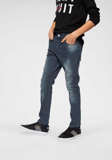 Buffalo Stretch-Jeans regular fit mit schmalem Bein und gestepptem Knieeinsatz