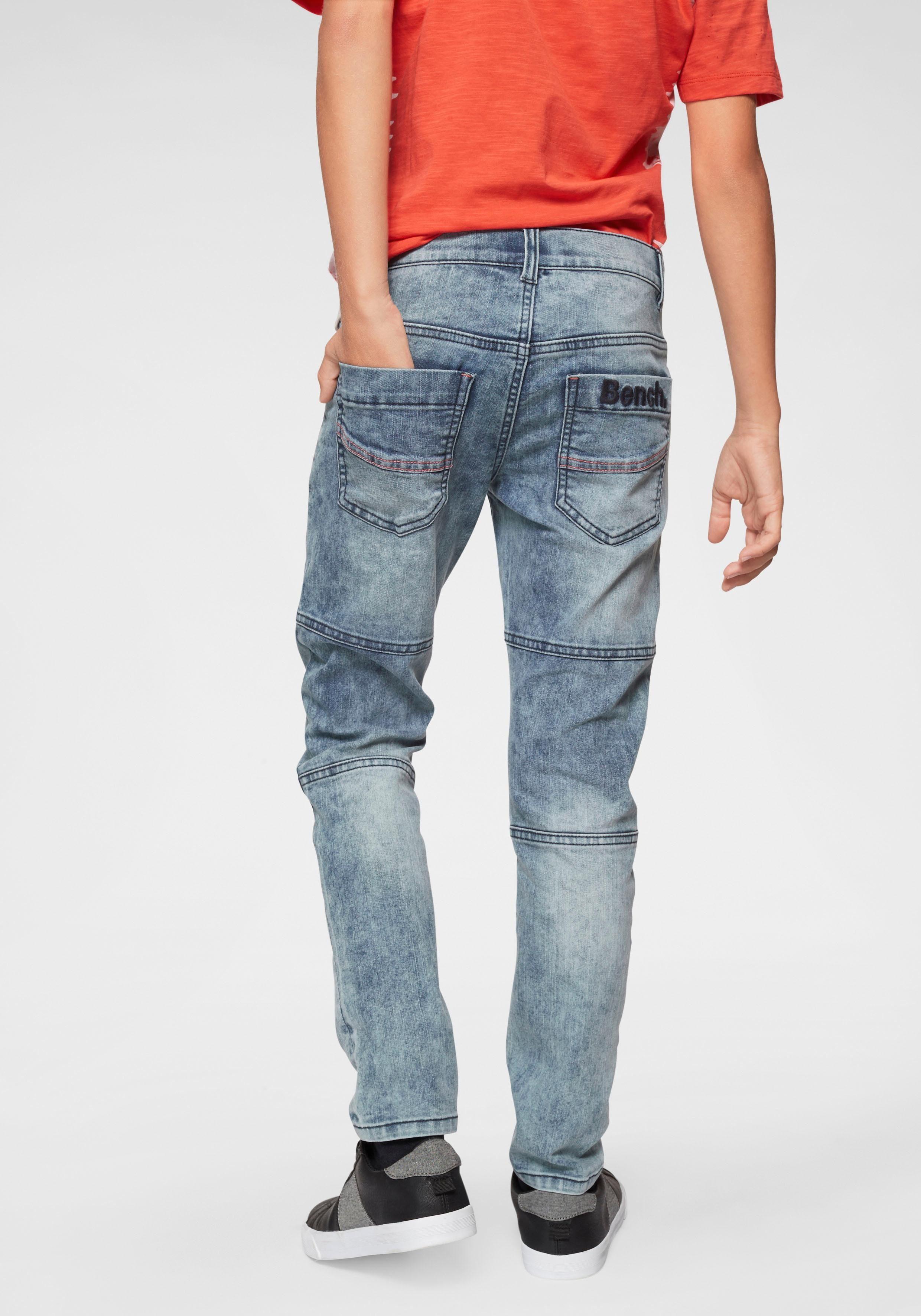 Buffalo Stretch Jeans regular fit mit schmalem Bein und gestepptem Knieeinsatz