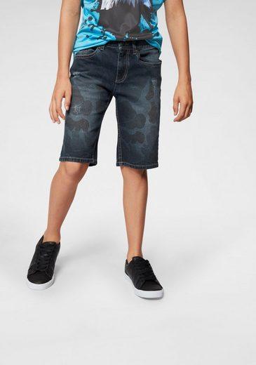 Arizona Jeansbermudas mit tarnfarbenem Druck