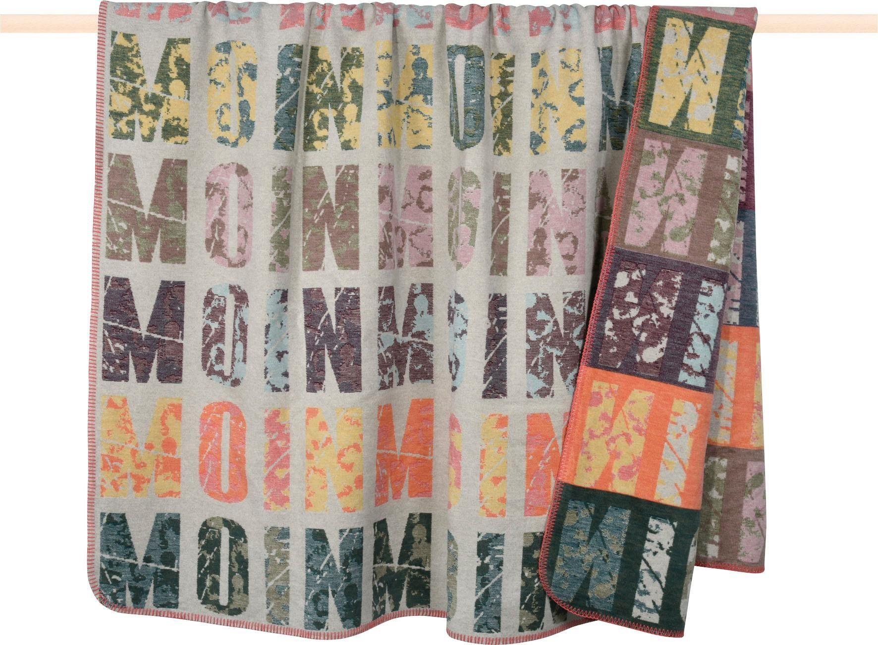 Wohndecke »MOIN«, PAD, mit Schriftzug