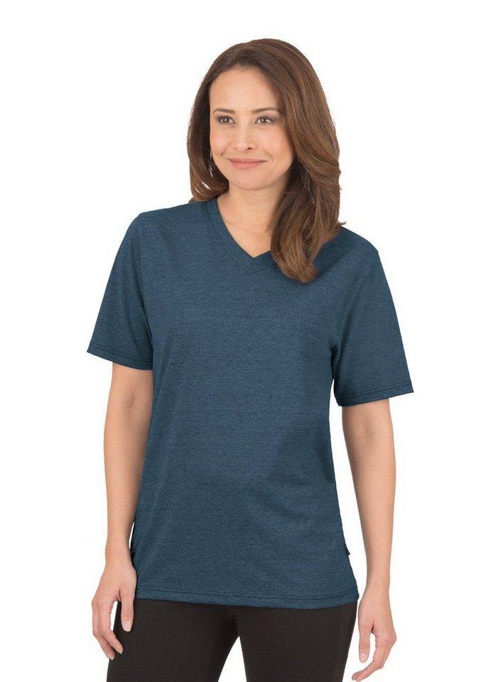TRIGEMA V-Shirt DELUXE Baumwolle | Bekleidung > Shirts > V-Shirts | Blau | Baumwolle - Jersey | Trigema