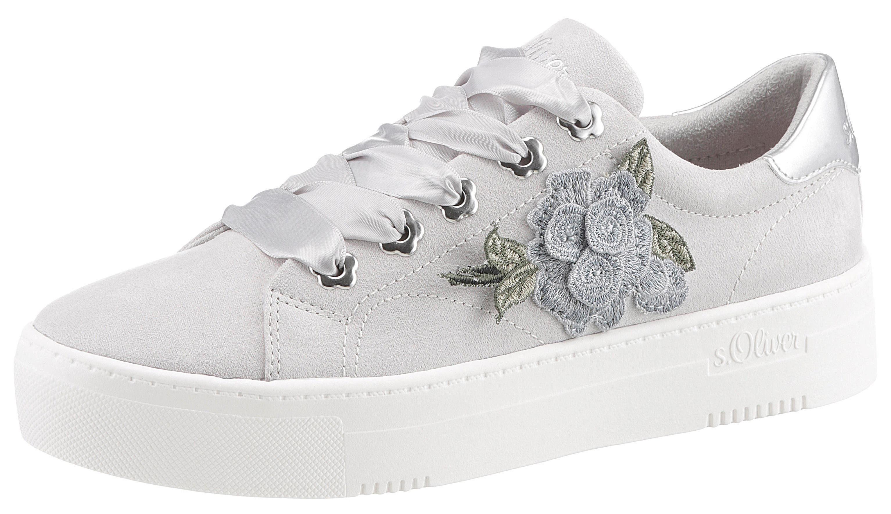 s.Oliver RED LABEL Slip On Sneaker mit Blumendruck