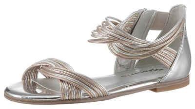 f0e23bb5666ee4 Tamaris »Irene« Sandale mit feinen Metallic-Riemchen
