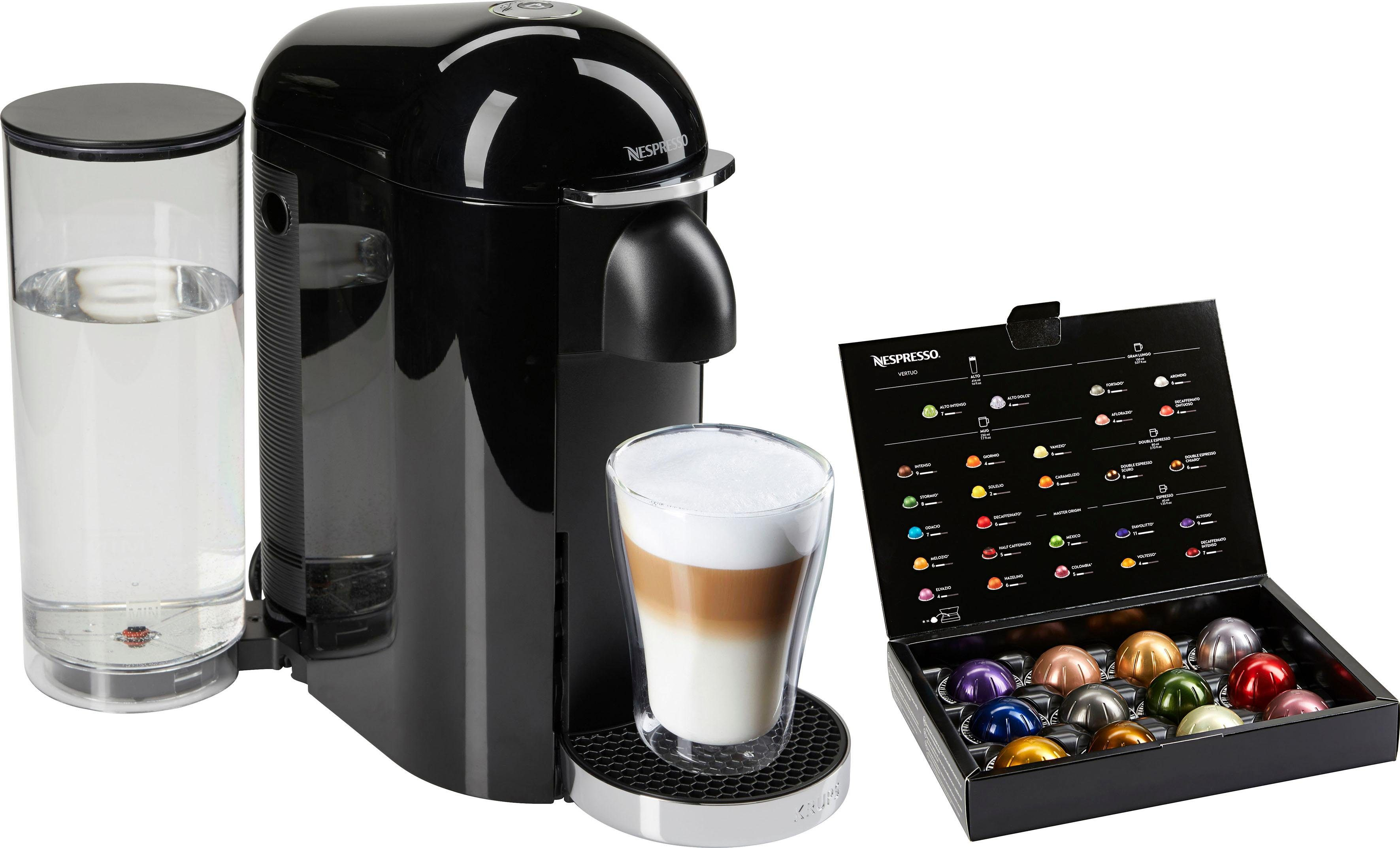 Nespresso Kapselmaschine XN9008 Vertuo Plus, mit neuartigem Kapselsystem