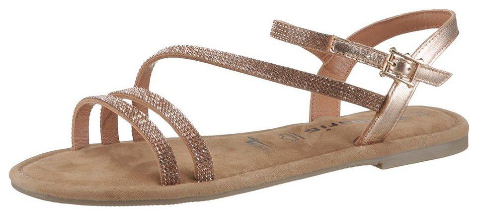d5f4e0fca08203 Tamaris Sandale mit Glitzer-Riemchen online kaufen