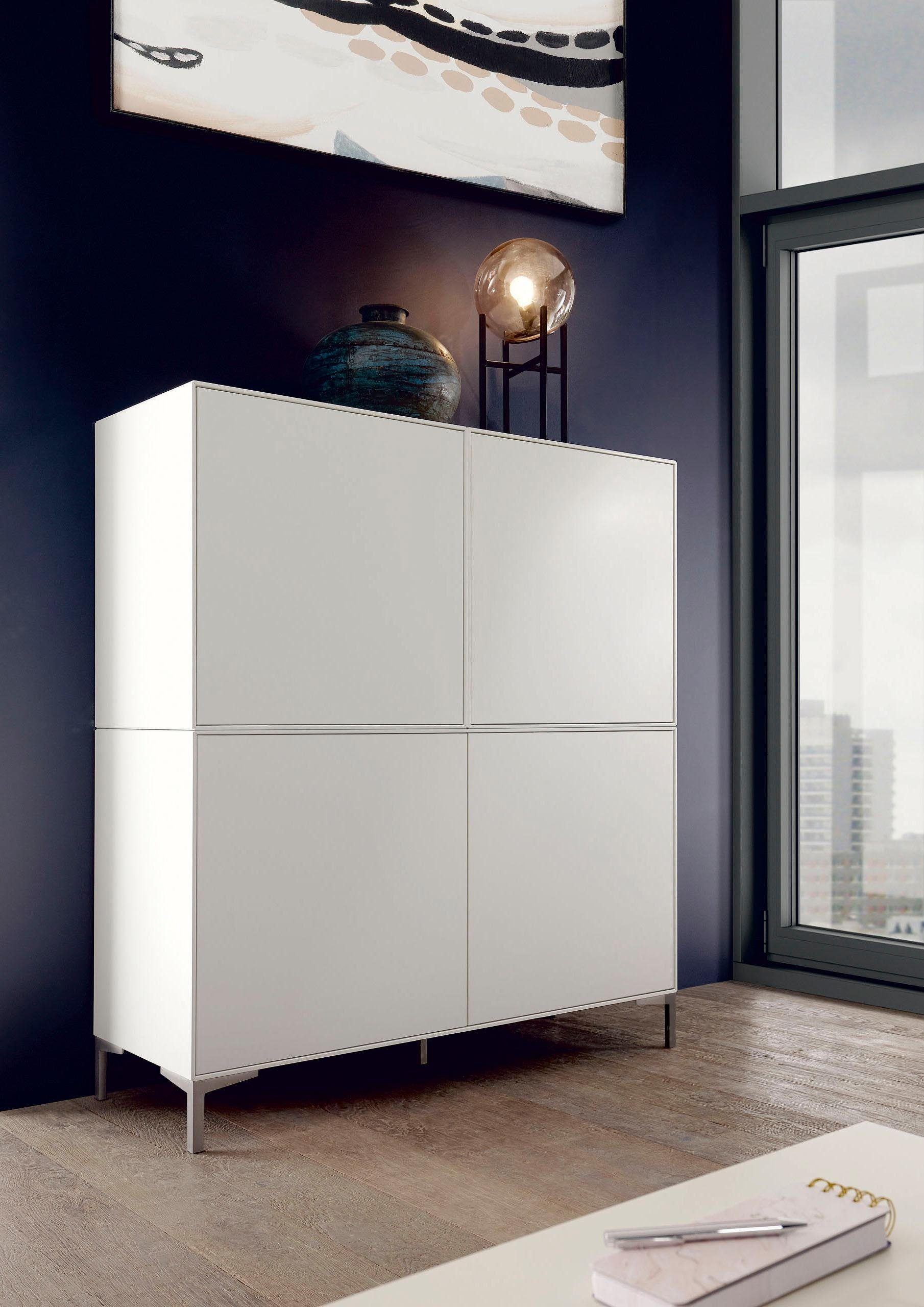 now! by hülsta Highboard »now! easy«, Breite 128 cm