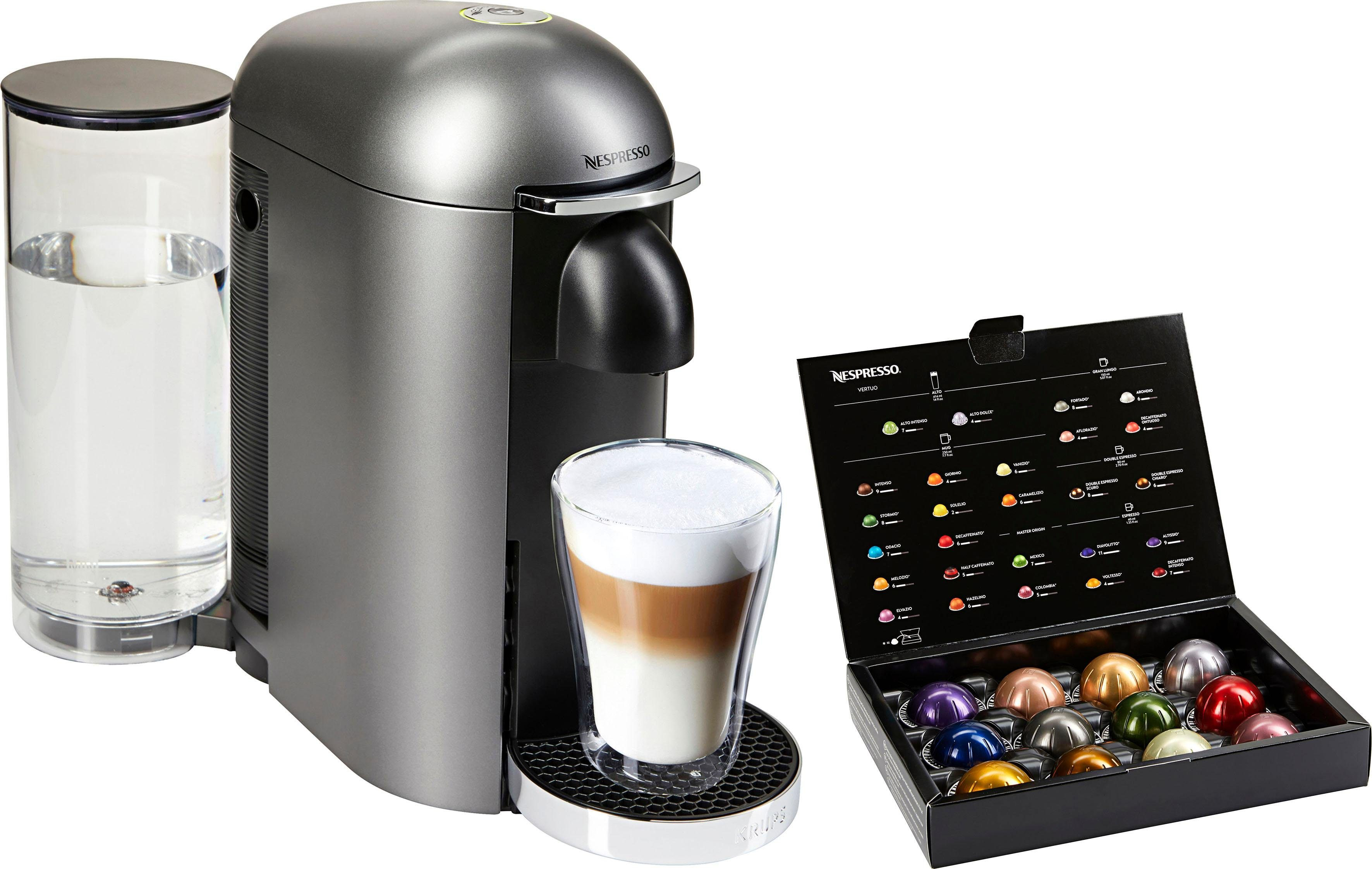 Nespresso Kapselmaschine XN900T Vertuo Plus, mit neuartigem Kapselsystem