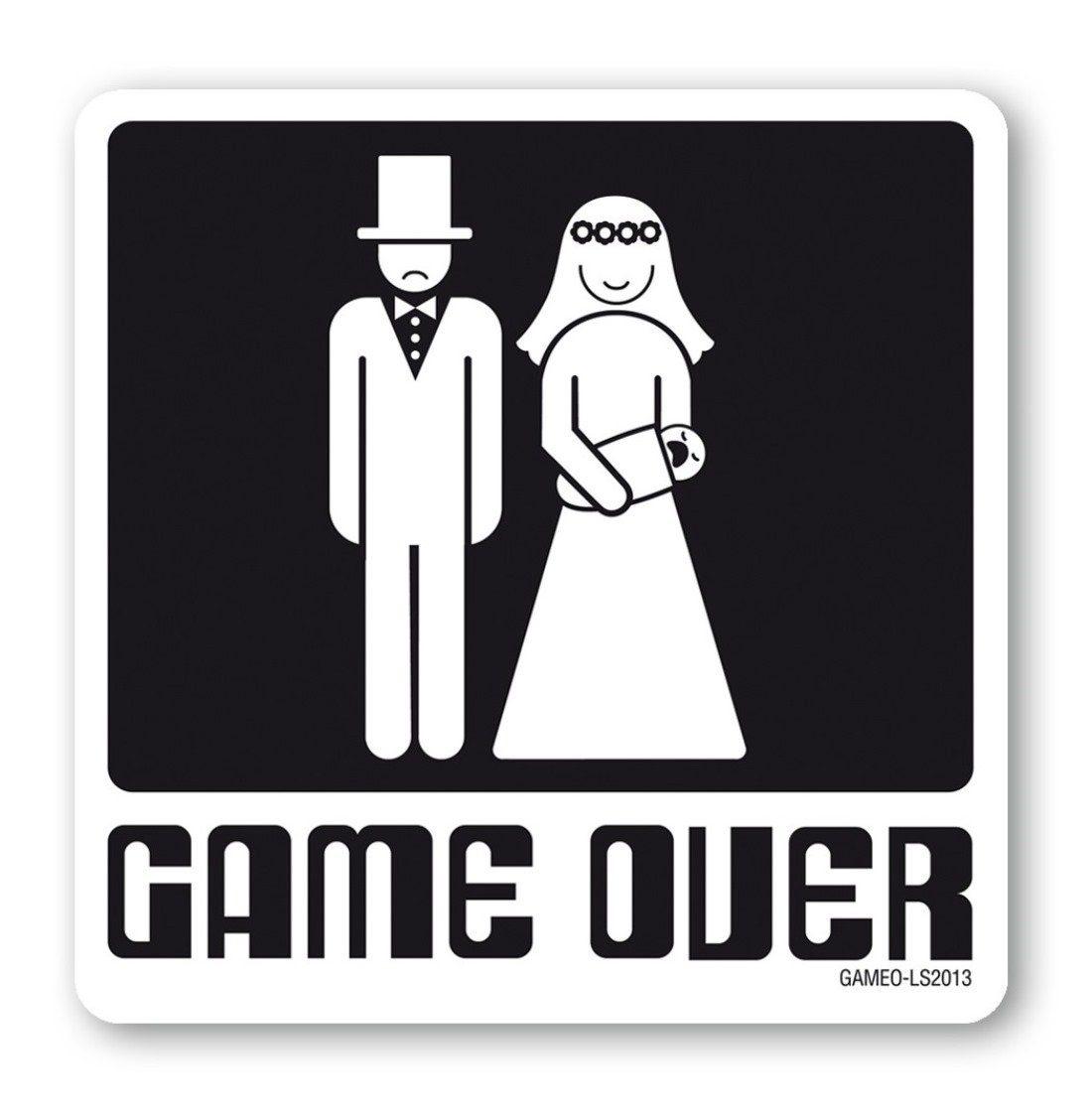 LOGOSHIRT Untersetzer mit Game Over Print