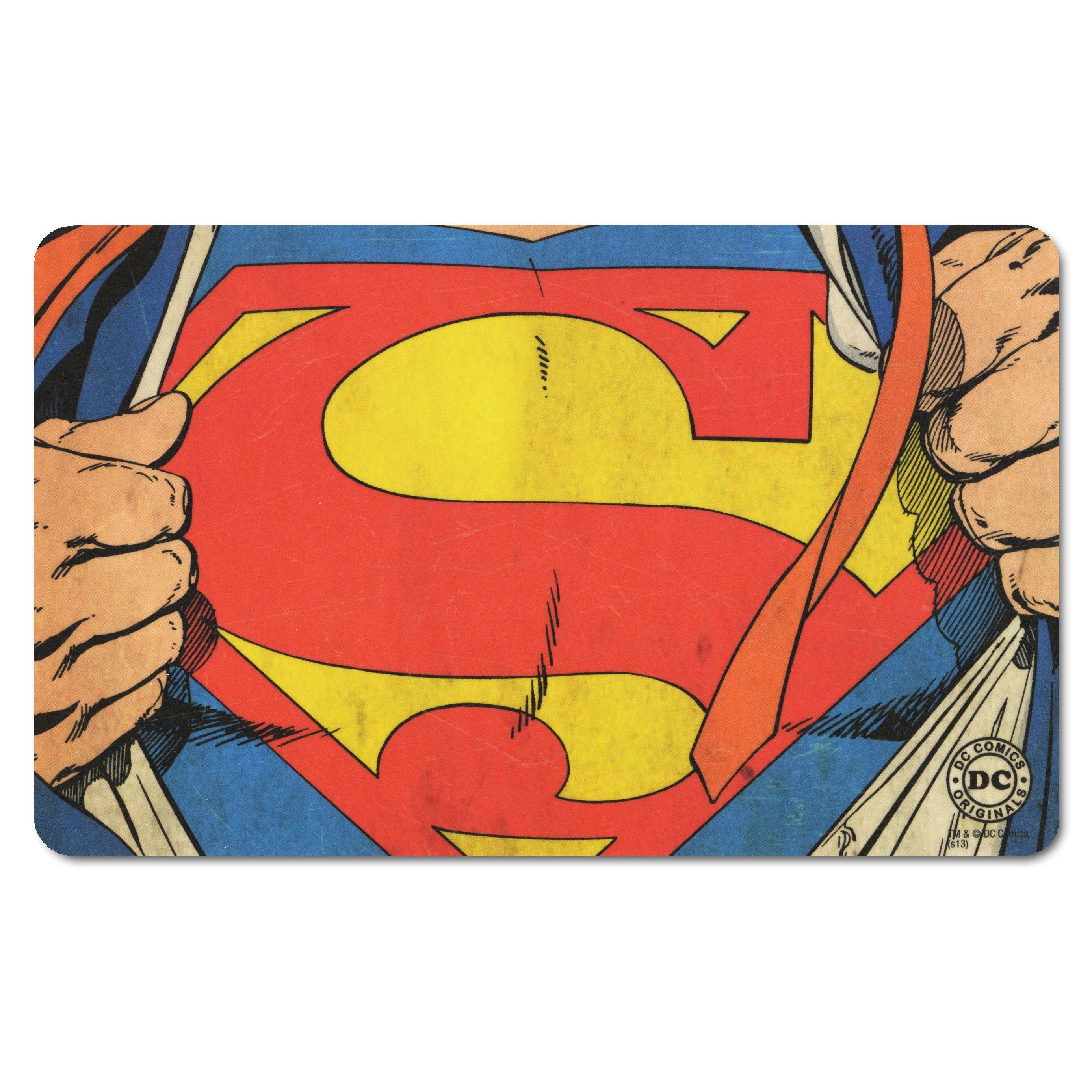 LOGOSHIRT Frühstücksbrettchen mit coolem Superman-Logo