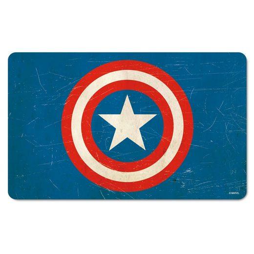 LOGOSHIRT Frühstücksbrettchen im Retro-Look »Captain America«