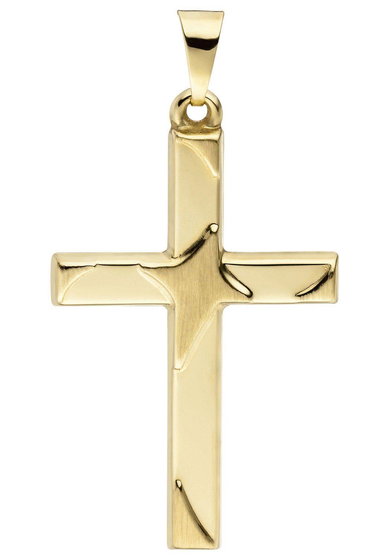 JOBO Kreuzanhänger »Kreuz« 375 Gold
