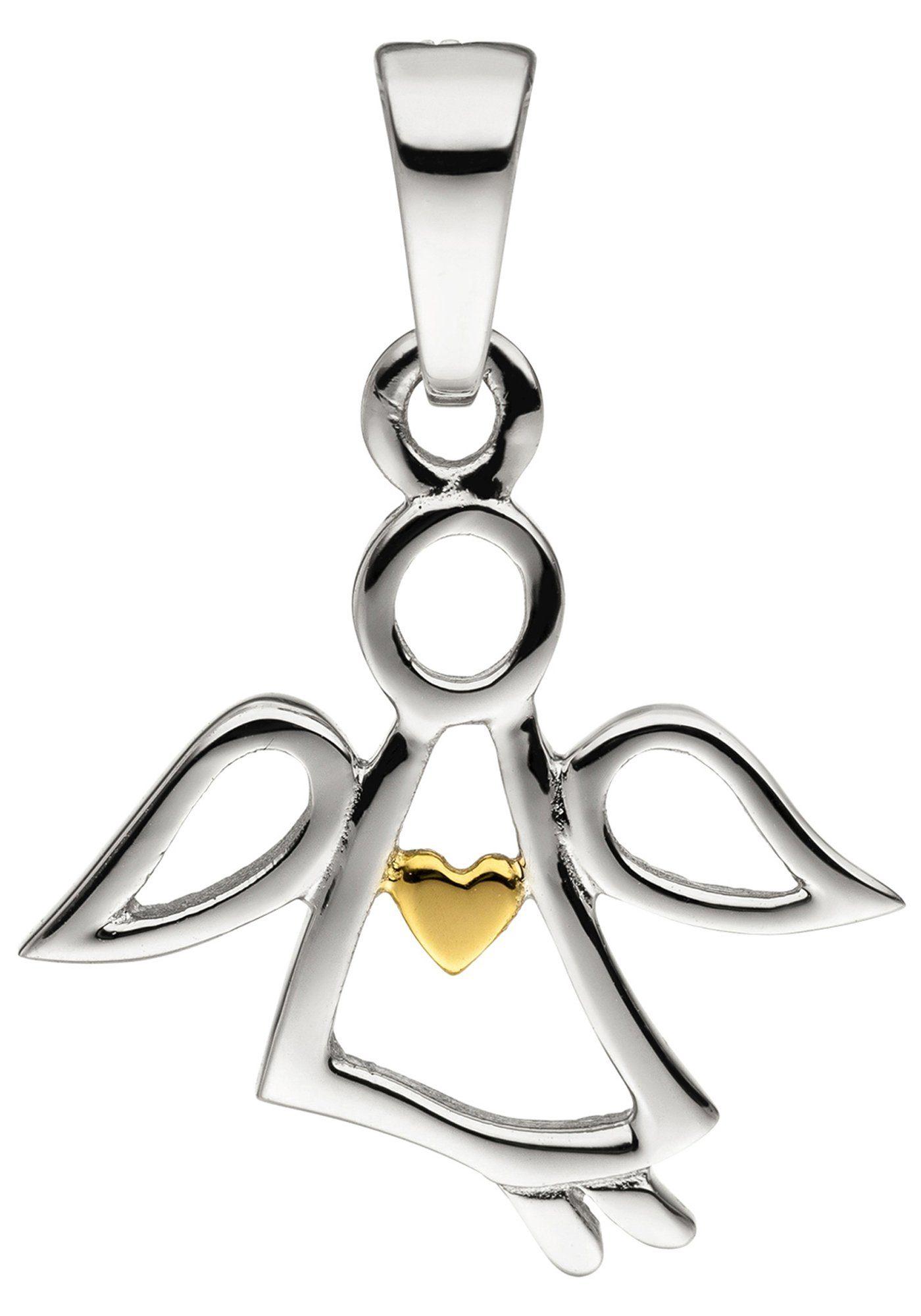 JOBO Engelanhänger »Engel Schutzengel« 925 Silber bicolor vergoldet
