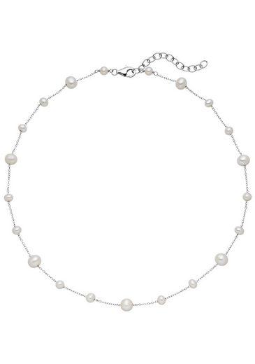 JOBO Collier 925 Silber mit Süßwasser-Zuchtperlen