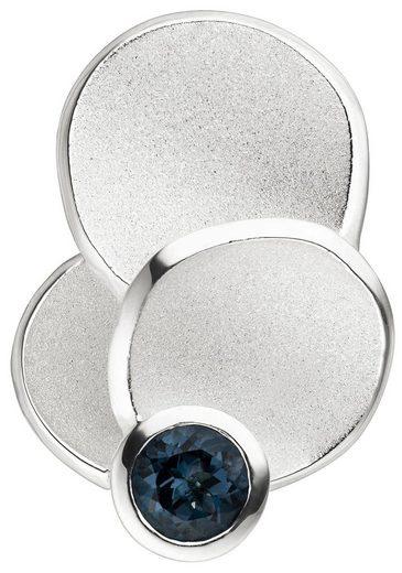 JOBO Kettenanhänger 925 Silber mit 1 Blautopas