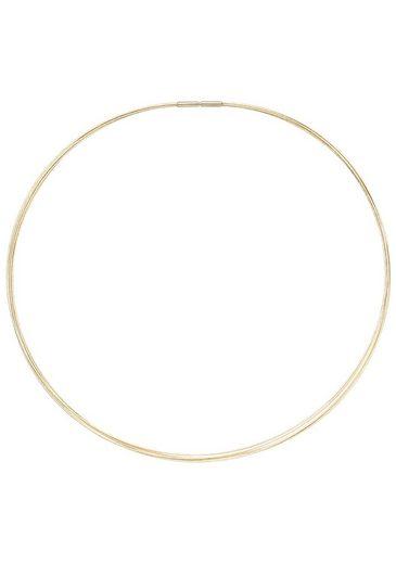 JOBO Halsreif 5-reihig 585 Gold 42 cm