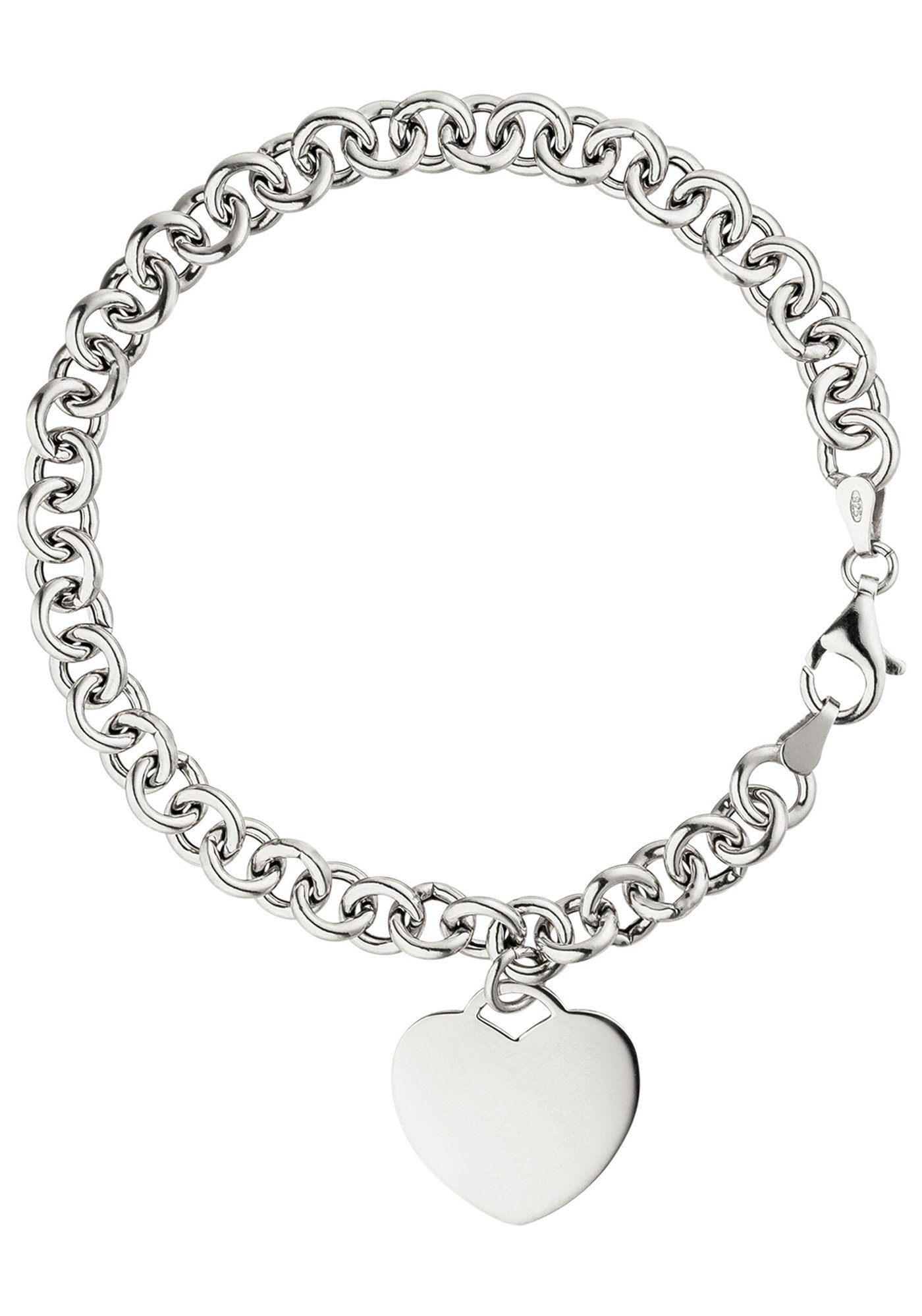 JOBO Silberarmband »Herz« 925 Silber 19 cm