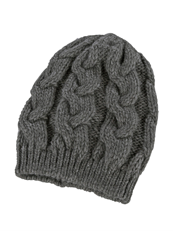 Mona Mütze mit effektvollem Zopfstrick