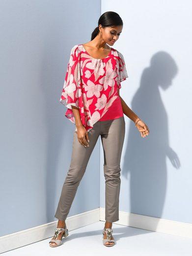 Alba Moda Blusenshirt im asymmetrischen Layering-Look