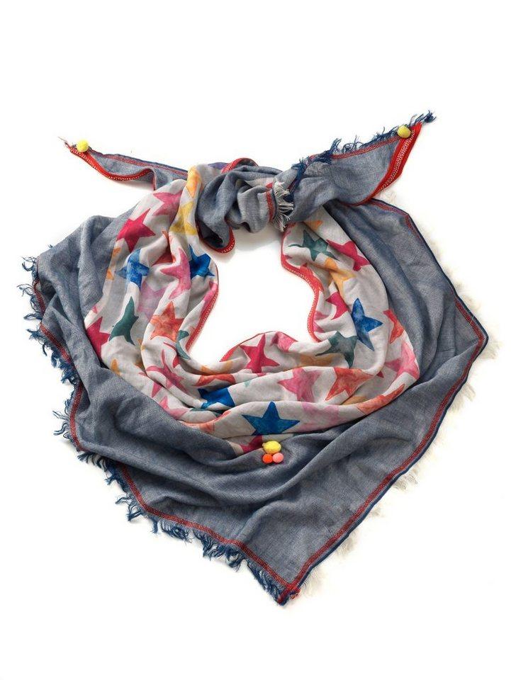 Damen Alba Moda  Tuch mit effektvollem Sternenprint bunt,  mehrfarbig | 04055716824354