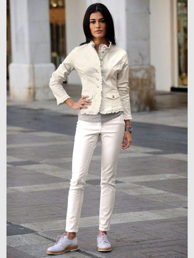 Alba Moda Jacke mit femininen Rüschenkanten