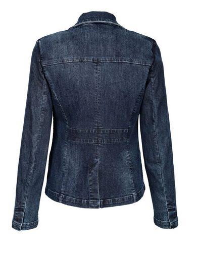 Alba Moda Jeansblazer aus trageangenehmer elastischer Ware