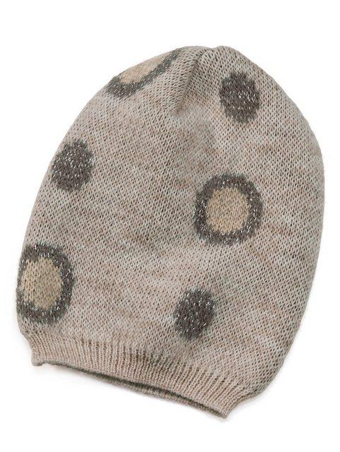 Alba Moda Mütze im großen Punkte-Dessin