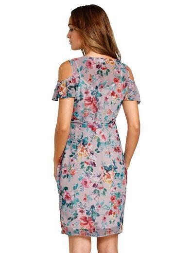 Alba Moda Kleid im Blumendruck allover