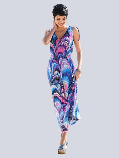 Alba Moda Kleid mit farbharmonischem Federndruck