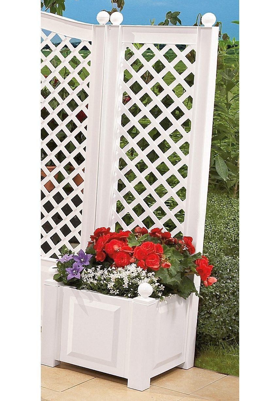 spalier mit pflanzkasten 43 cm wei kaufen otto. Black Bedroom Furniture Sets. Home Design Ideas