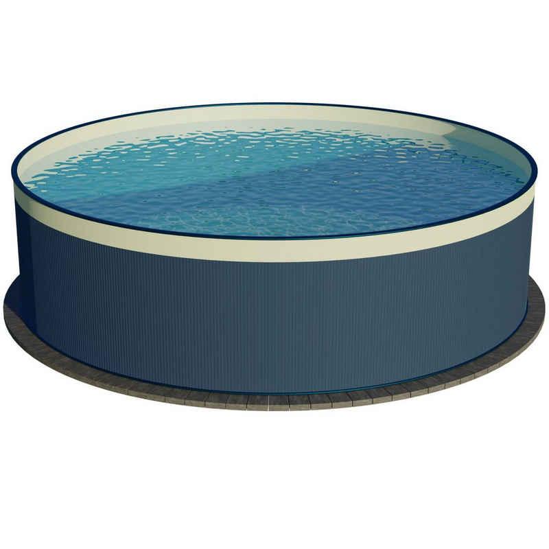 Planet Pool Rundpool »PLANET POOL Rundbecken-Set Anthrazit 450x90cm, 3 t«