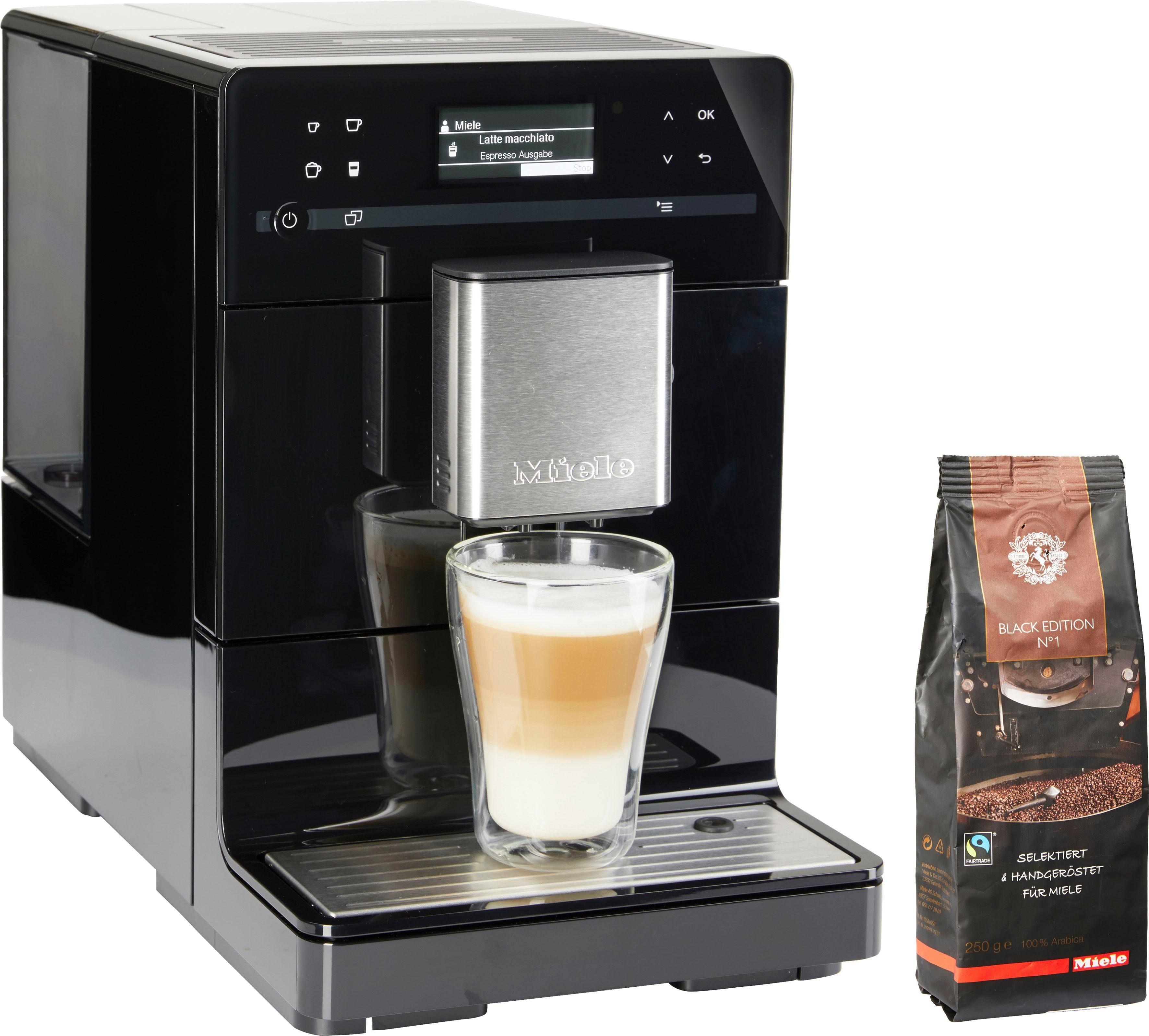 Miele Kaffeevollautomat CM 5400 Obsidianschwarz, individuelle Genießerprofile
