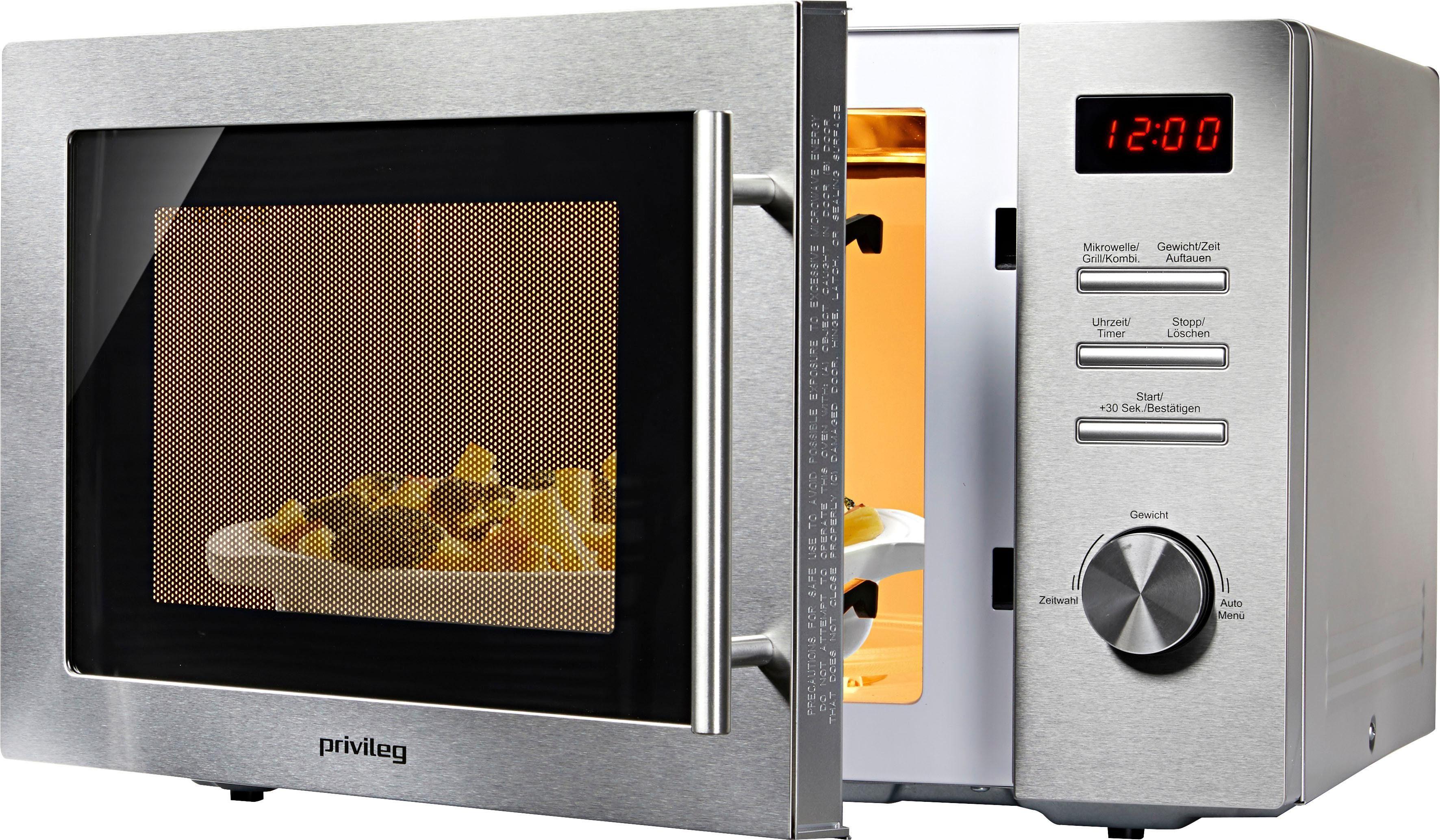 Privileg Mikrowelle 1000 W, mit Grill, 34 Liter