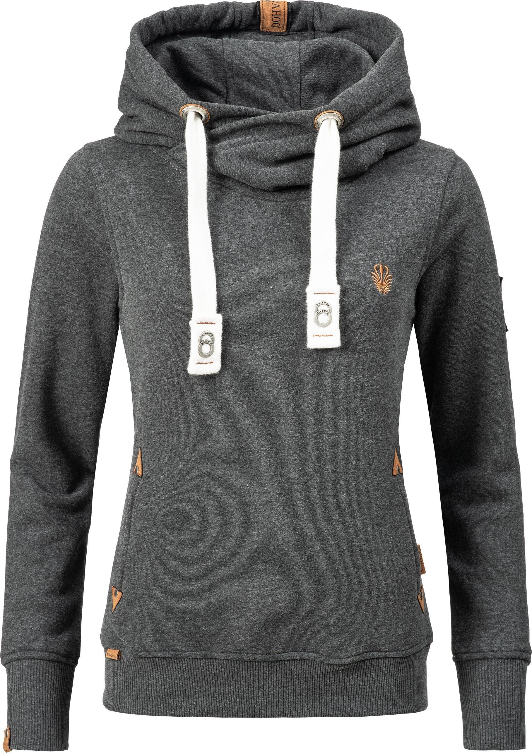 Navahoo Kapuzensweatshirt »Namikaa« weicher Hoodie mit dicken Tunnelzugkordeln an der Kapuze online kaufen | OTTO